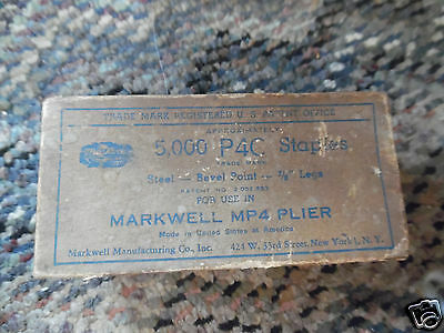Vintage Markwell MP4 plier p4C staples in box