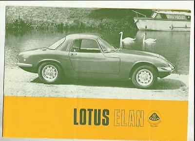 Lotus Elan Sales Brochure 1967