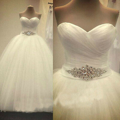 2016 New White/Ivory Wedding Dress Bridal Gown Stock size 6-8-10-12-14-16-18