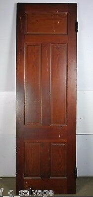 "Antique Vintage 5-Panel Interior Swinging Door 94-1/8"" X 29-5/8"" Early 1900's V6"