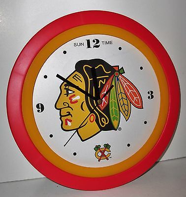 Sun Time – Chicago Blackhawks Wall Clock! New in Package!