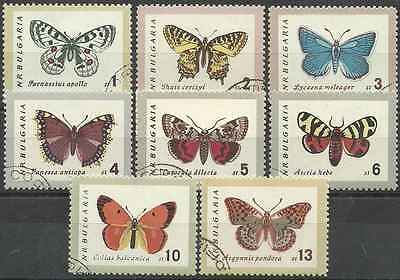 Timbres Papillons Bulgarie 1155/62 o lot 6654