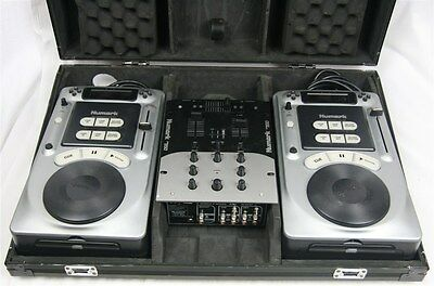 Numark DM-950 DJ Mixer and 2x Axis 4 Pro CD Players in Numark Hard Carry Case