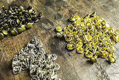Rapid Rivets - 7mm Round Double Cap 4 colours 3 packet qty Easy to use