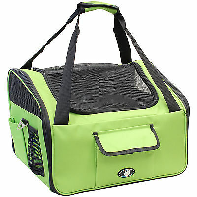 Me & My Pets Green Dog/cat/kitten Car Travel/safety Seat Carry Crate/carrier Bag