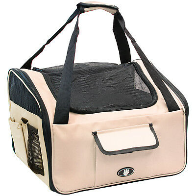 Me & My Pets Cream Dog/puppy/cat Car Travel/safety Seat Carry Crate/carrier Bag