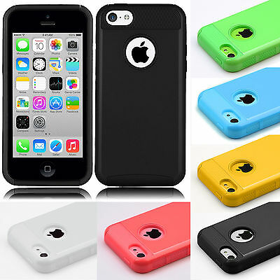 Hybrid Shockproof ULTRA SLIM Rugged Rubber Hard Cover Case For Apple iPhone 5C C