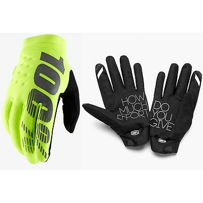 100% Brisker Cold Weather Winter Motocross Enduro Bike Gloves Neon Yellow