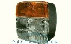 PAIR SQUARE FRONT indicator flasher / side light position lamps for TRACTOR etc