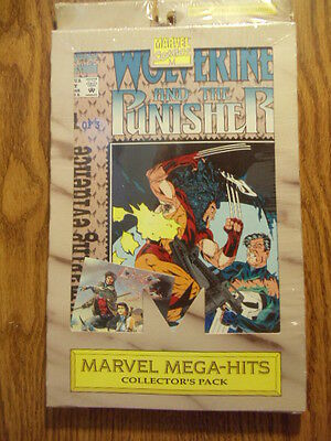 Marvel MegaHits Collector Pack Wolverine Punisher DamagingEvidence 3 comics card