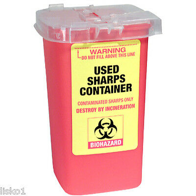 Used Sharps Container for disposal of Razor Shaving Blades  #FSC-555