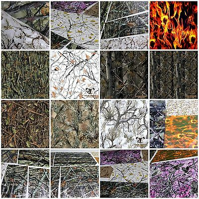 Hydrographic Film Samples 6+ 2M 20' Sq Ft True Timber Camo Flames Skulls Dip Kit