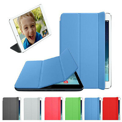 Slim Leather Smart Cover Sleep Wake Stand Magnetic Case For iPad mini Retina 2