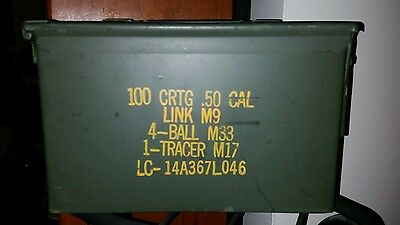 Military Surplus 50cal & others Ammo Box Storage .50 caliber EXCELLENT condition