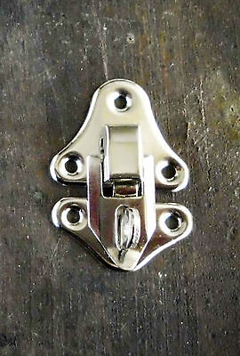 Catches Latches small Toggle Catch Silver 23x32mm  for bags, small cases,  boxes