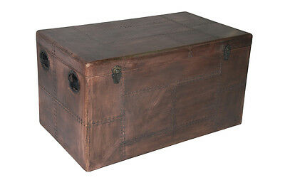 Furniture Vintage Copper Chest Coffee Table Aircraft Recycling