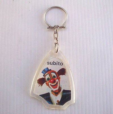 Porte clés  keychain key ring ancien :  Le clown SUBITO Cirque Chocolat Meunier