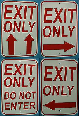 Exit Sign, Exit Only Street Sign 12X18 Aluminum, Parking Sign, USA Made W/Arrows