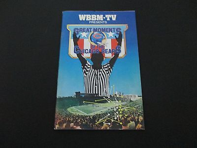 WBBM Great Moments of Chicago Bears vintage publication Channel 2 Johnny Morris