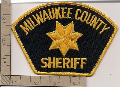 Milwaukee County Sheriff. Large patch.