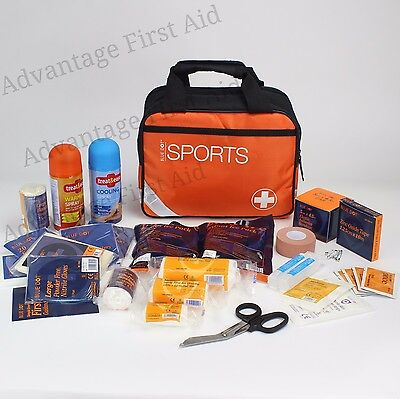 Premium Standard Sports First Aid Kit. Includes Hot/Cold Therapy for Small Teams