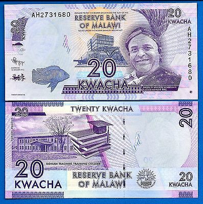 Malawi P-New 20 Kwacha Year 2012 Uncirculated Banknotes Africa