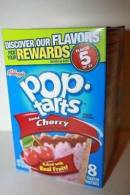 USA Kellogg's Pop Tarts Frosted Cherry (8 toaster pastries)