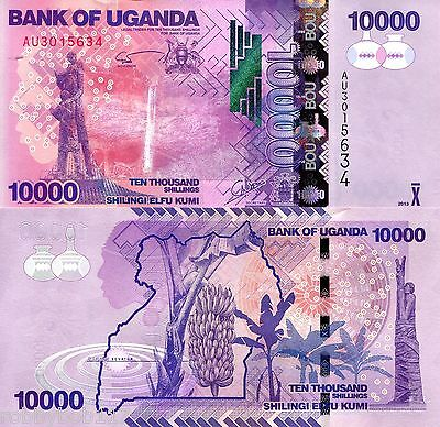 UGANDA 10000 Shillings Banknote World Currency Money BILL Africa Note p52 - 2013