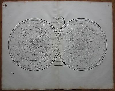 Selves: Large Celestial Map Constellations Planispheres  - 1833