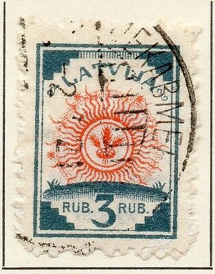 Latvia 1919 Early Issue Fine Used 3R. 013010