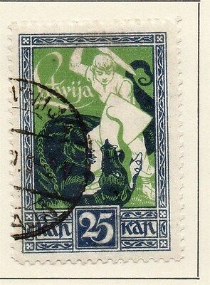 Latvia 1920 Early Issue Fine Used 25k. 013022