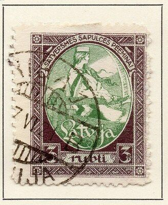 Latvia 1920 Early Issue Fine Used 3R. 013027