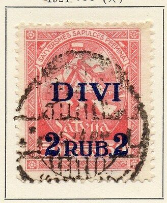Latvia 1920 Early Issue Fine Used 2R. Surcharged  013035