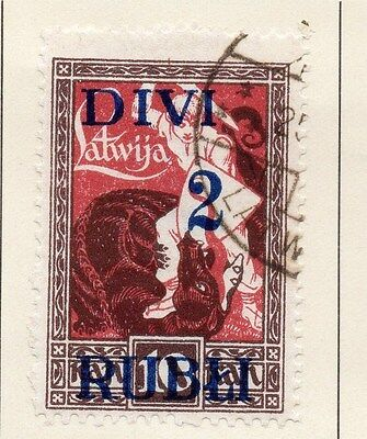 Latvia 1921 Early Issue Fine Used 2R. Surcharged 013037