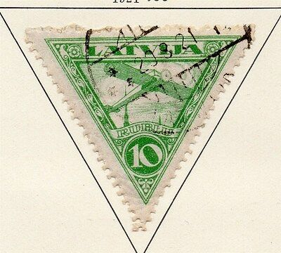 Latvia 1921 Early Issue Fine Used 10k. 013039