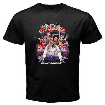 New Six Pack Kenny Rogers 80's Movie Men's Black T-Shirt Size S to 3XL