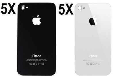 X10 Replacement Rear Glass Back Cover Battery Door For iphone 4S A1387 Blk/Whi