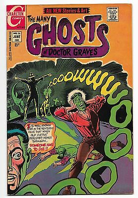 Lot Of Five Vintage Ghost Related Charlton Comics Silver And Bronze Age