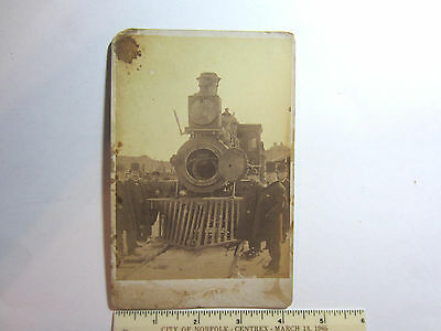 """RARE LATE 1800's PHOTO """"STATEN ISLAND TRAIN"""" IMPORTANT LOOKING 5 3/4"""" X 4 1/8"""""""