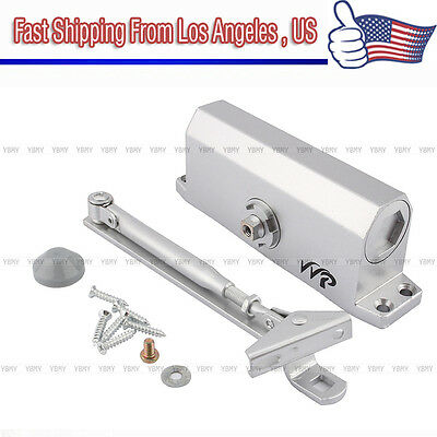 45-65KG Aluminum Commercial Door Closer Two Independent Valves Control Sweep US