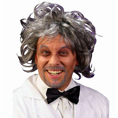 Mad Scientist Einstein Mozart Zombie Fancy Dress Costume Wig Accessory