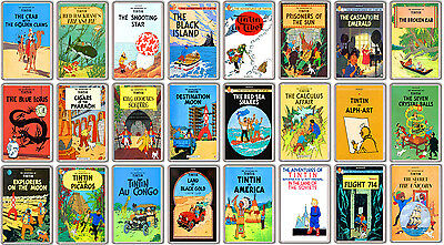 Tintin Collection Of 24 Fridge Magnet Book Covers Imanes Nevera