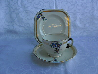 Tuscan Plant, Art Deco - Tea Trio (Teacup, Saucer & Teaplate) REDUCED!