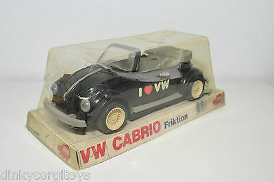Dickie 4088 Vw Volkswagen Beetle Kafer Cabrio Black I Love Vw Mint Boxed