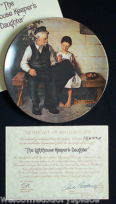"""Norman Rockwell """"The Lighthouse Keeper's Daughter"""" Collectors Plate Knowles 1979"""