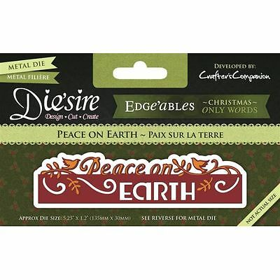 Crafters Companion Diesire Christmas Only Word Edge'ables - Peace on Earth