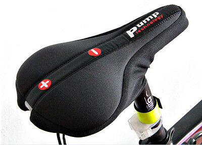 Mountain Bike Bicycle Seat Saddle Cover Air Gas Cushion Soft Cycling Comfortable