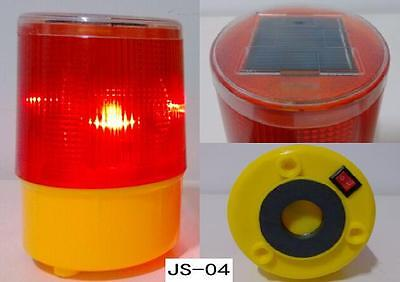 Solar Energy Warning Light Red Yellow LED Road Traffic Project Tower Lamp Beacon