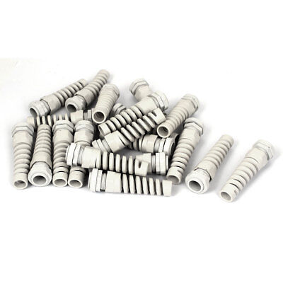 PG13.5 20mm Male Thread Dia Waterproof Cables Glands Joints Adapter White 20pcs