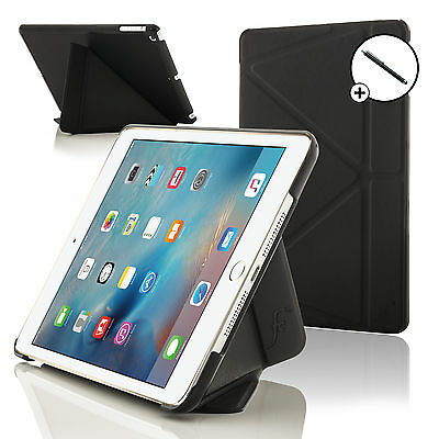 Black Smart Case Cover Stand for Apple iPad Mini 4 with Free Stylus